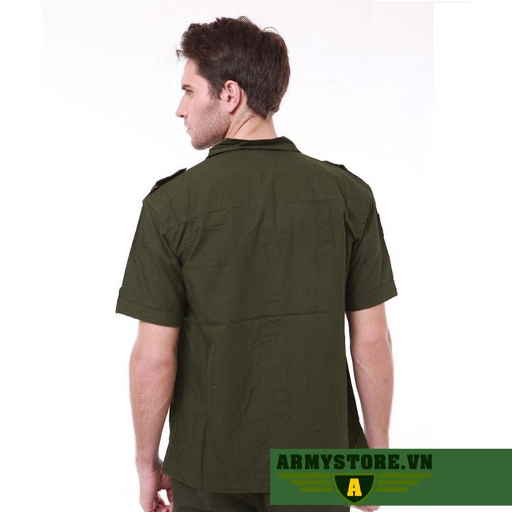 Áo sơ mi nam cộc tay phong cách lính Army ARM-809