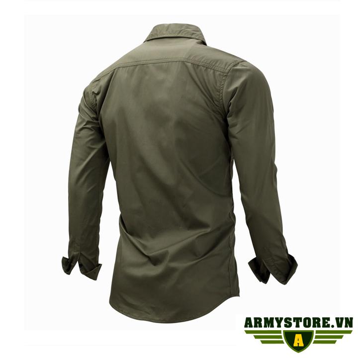 Áo sơ mi nam dài tay phong cách lính Army ARM-811
