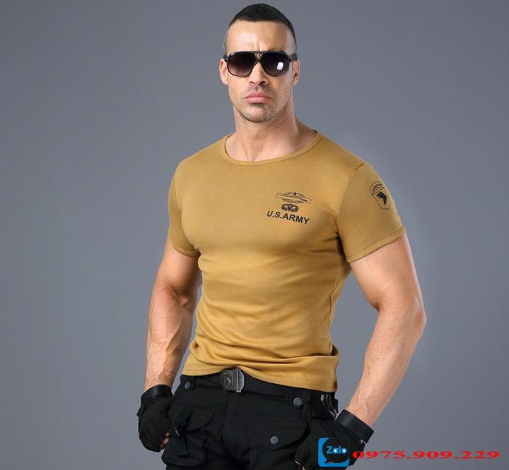 Áo phông nam cộc tay thời trang lính Army ARM-817