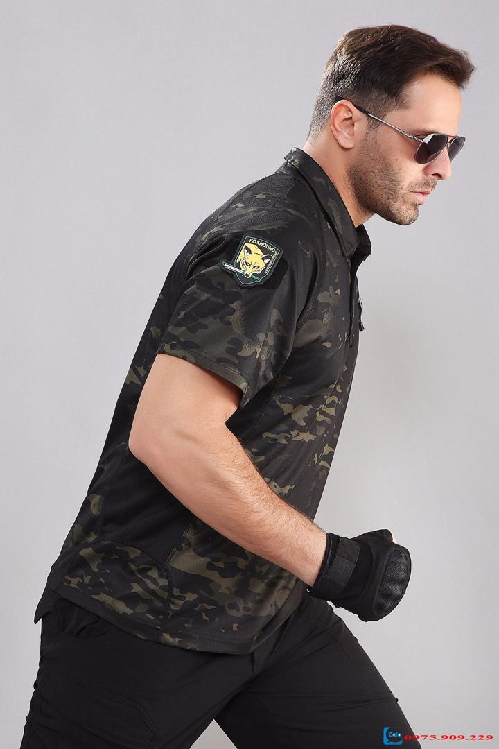 Áo Thun Lính Army cao cấp (màu đen) ARM-825
