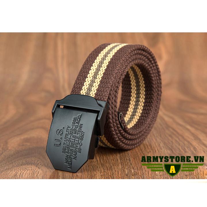 Dây Thắt Lưng Lính Mỹ cao cấp (Màu đen)  ARM-832