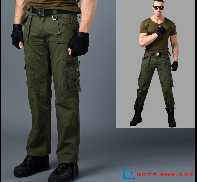 Quần túi hộp nam phong cách lính Army ARM-818