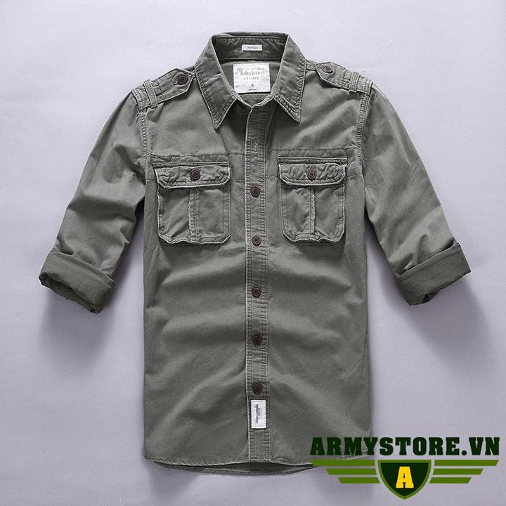Áo sơ mi tay dài lính Army cao cấp ARM-854
