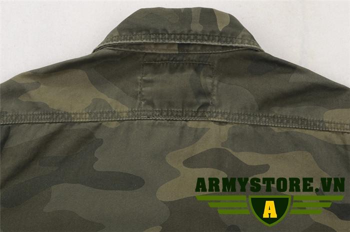 Áo sơ mi tay ngắn tay lính Army cao cấp ARM-852
