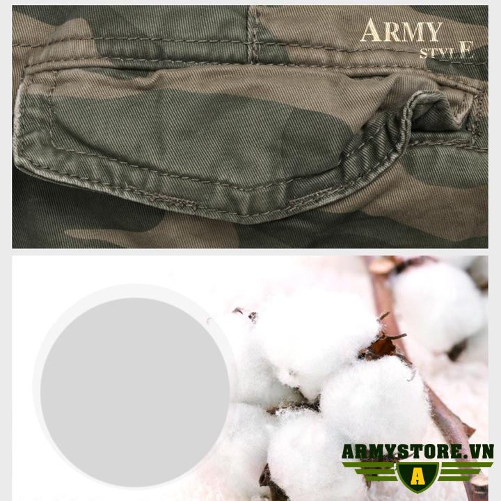 Quần short túi hộp camo lính chính hãng aber  ARM-857