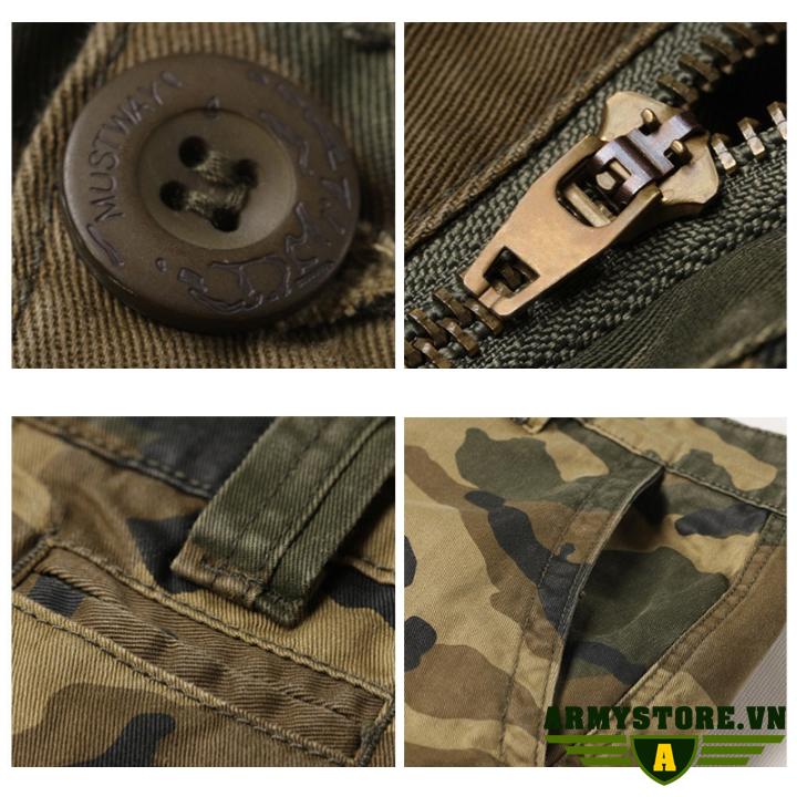 Quần short túi hộp nam rằn ri lính Army chính hãng ARM-863