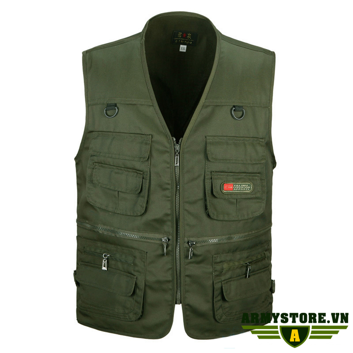Áo gile lính U.S.Army - Quần áo lính Mỹ ARM-836 (Xanh)