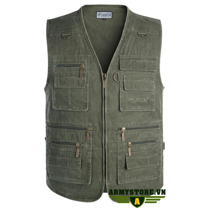 Áo gile lính U.S.Army - Quần áo lính Mỹ ARM-838 (Xanh)