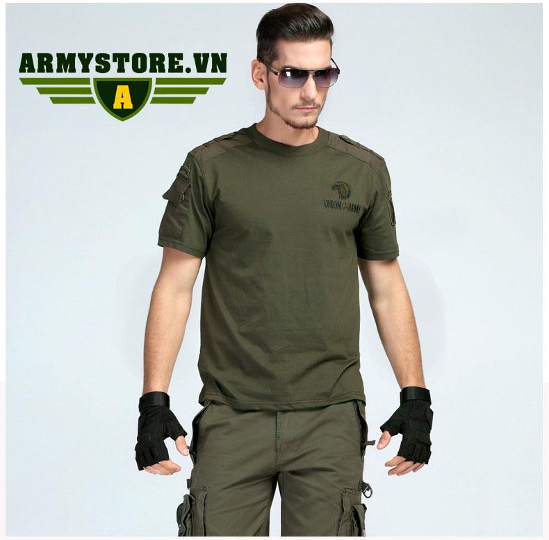 Áo phông nam cộc tay thời trang lính Army ARM-816 (Xanh lính)