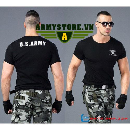 Áo phông nam cộc tay thời trang lính Army ARM-817 (Đen)