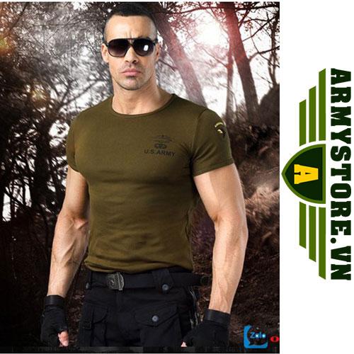 Áo phông nam cộc tay thời trang lính Army ARM-817 (Xanh lính)