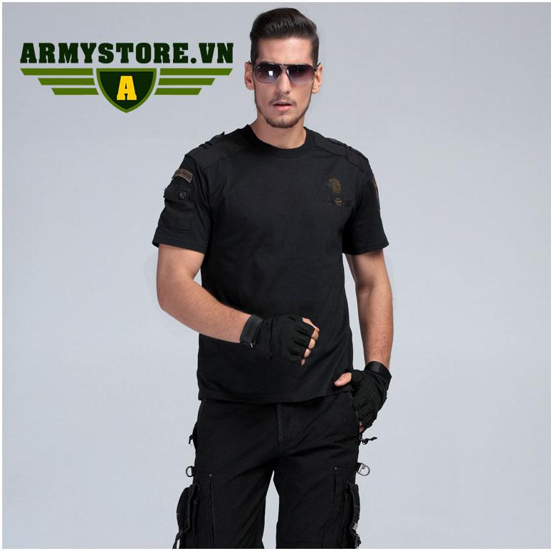 Áo phông nam cộc tay thời trang lính Army ARM-816 (Đen)