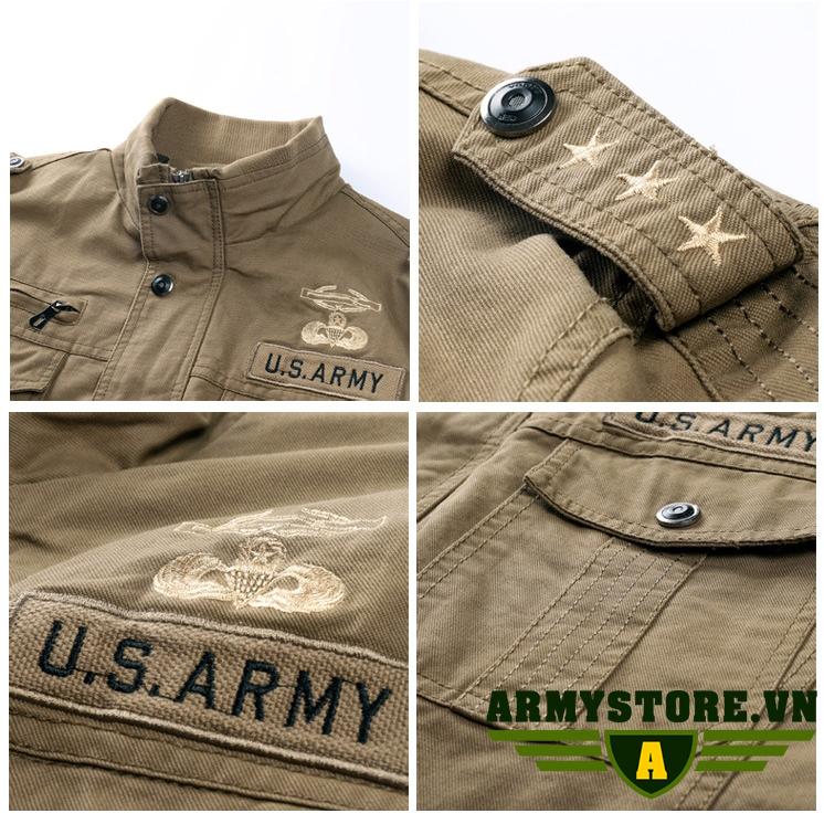 Áo Khoác Lính Mỹ Army cao cấp ARM-918