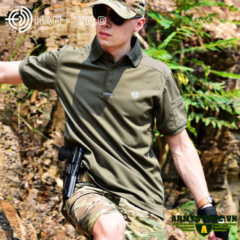 Áo thun nam phong cách lính ARM-907 (Xanh)
