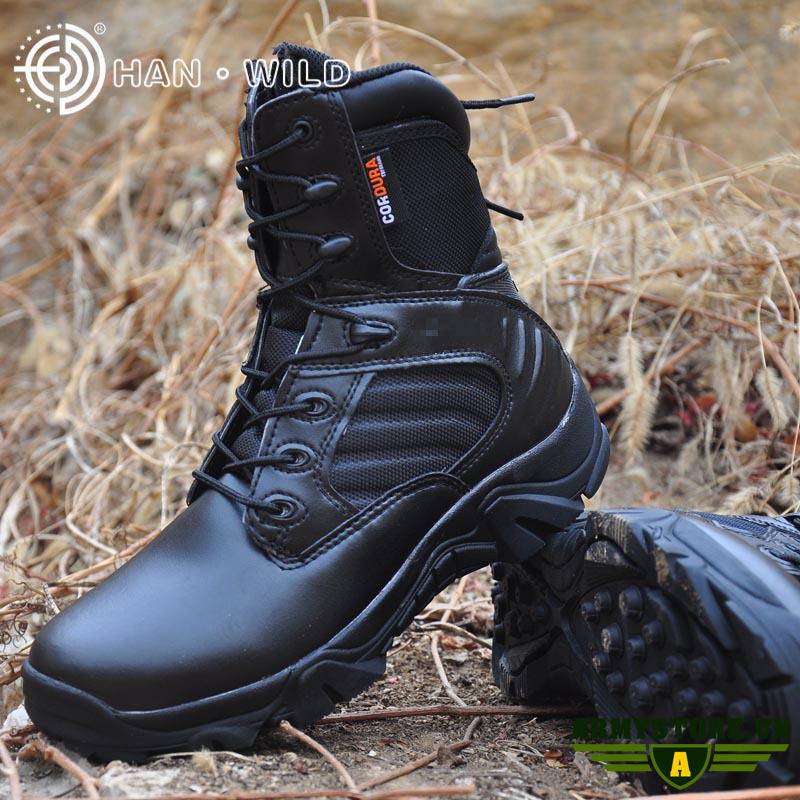 Giày lính HAN-WILD cổ cao chính hãng ARM-910 (Đen)