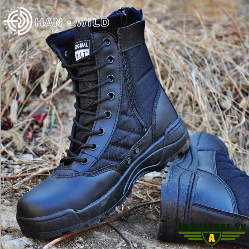 Giày lính SWAT Original cổ cao ARM-909 (Đen)
