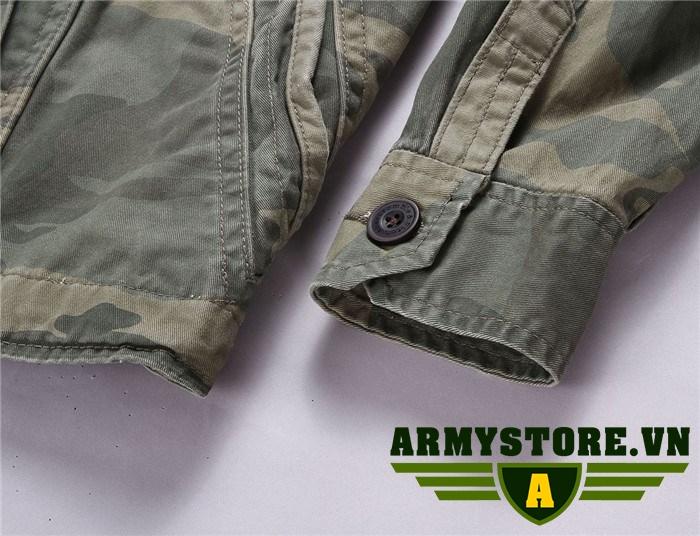 Áo khoác lính kaki cao cấp ARM-938
