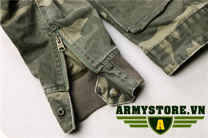 Áo khoác lính Aber kaki cao cấp cổ đứng ARM-941