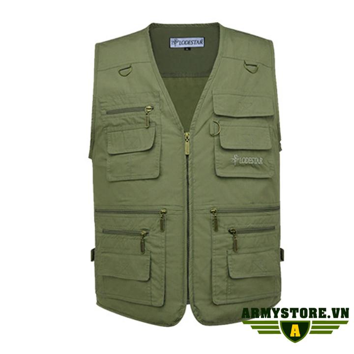 Áo gile nam phong cách lính ARM-966 (Xanh)