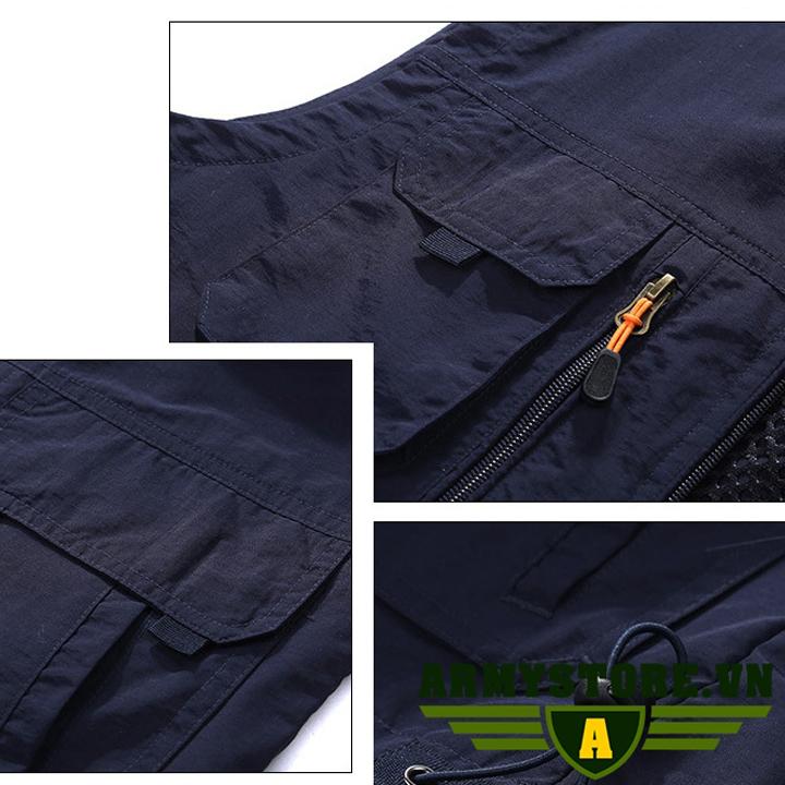 Áo Gile Nam Phong Cách Lính ARM-968 (Kaki)