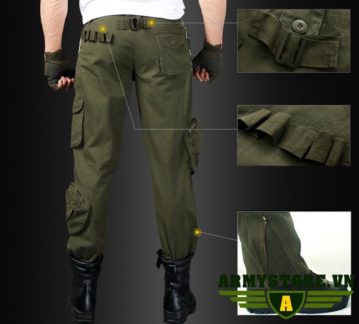 Quần túi hộp nam phong cách lính Army ARM-969