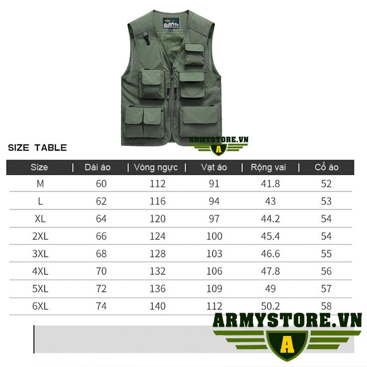 Áo gile nam màu lính ARM-962