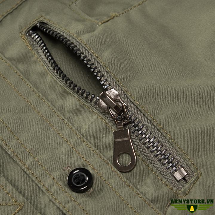 Áo sơ mi nam dài tay phong cách lính ARM-980 (Xanh Lính)