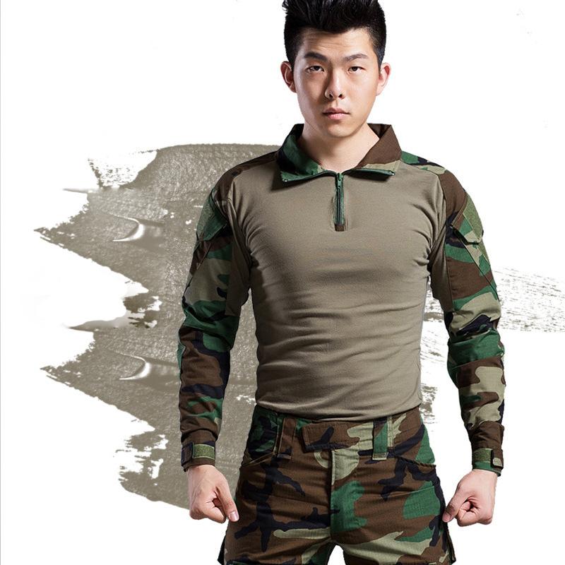 Áo thun tay dài phong cách lính ARM-983 (Rằn ri xanh)