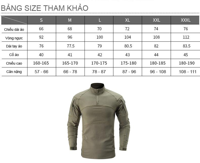 Áo Thun Tay Dài Phong Cách lính cao cấp ARM-985