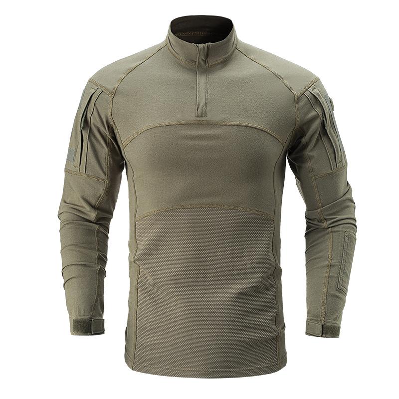 Áo thun tay dài phong cách lính cao cấp ARM-985 (Xanh lính)