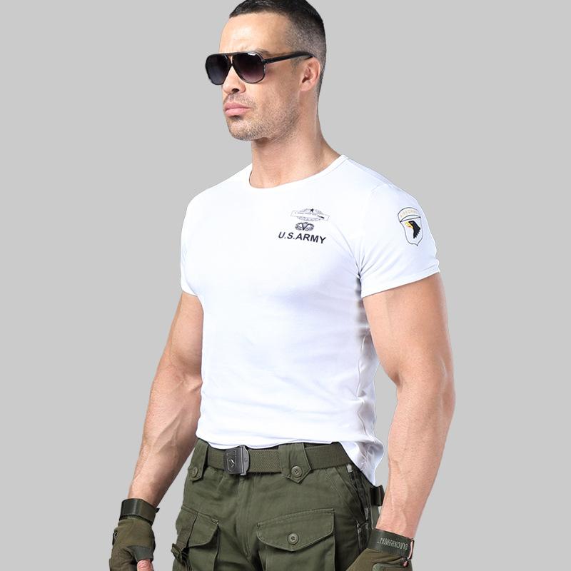 Áo phông nam cộc tay thời trang lính Army ARM-817 (Trắng)