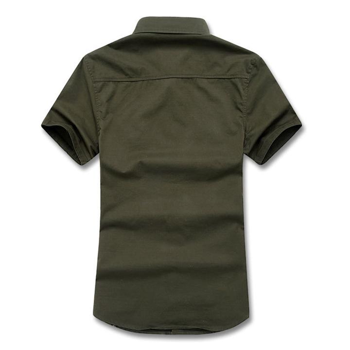 Áo sơ mi nam cộc tay phong cách lính Army ARM-1006