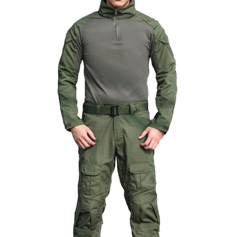 Áo thun tay dài phong cách lính ARM-1020  (Xanh lính)