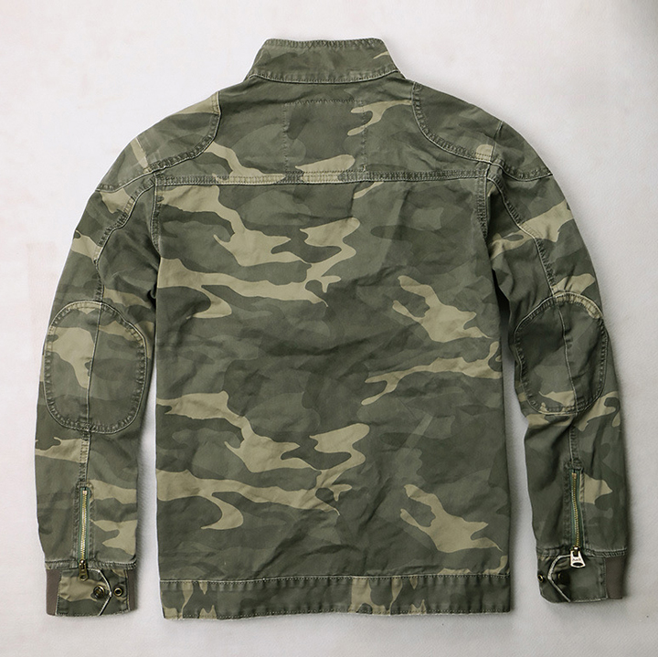 Áo khoác lính kaki cao cấp ARM-1048 (Rằn ri)
