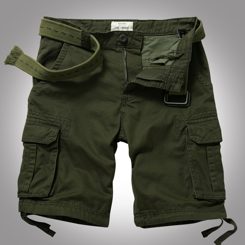 Quần short túi hộp nam AKARMY ARM-863A (Xanh lính)